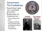 government the confederacy
