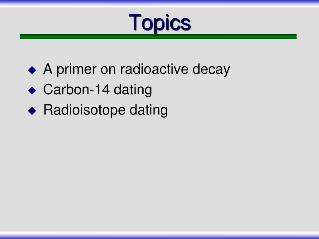 radioaktive dating Slideshare
