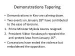 demonstrations tapering
