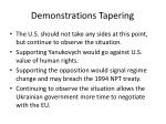 demonstrations tapering1