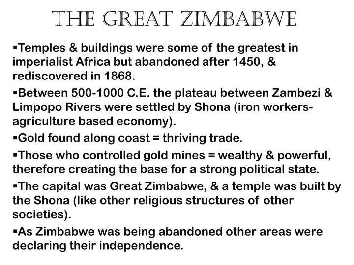 the great zimbabwe n.