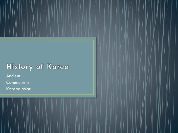 history of korea n.