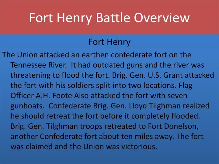 Fort henry battle overview