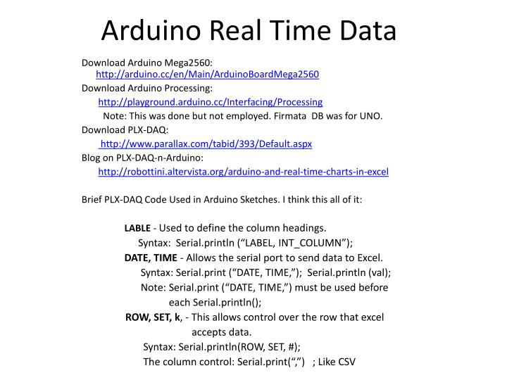 PPT - Arduino Real Time Data PowerPoint Presentation - ID