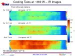 cooling tests at 360 w ir images