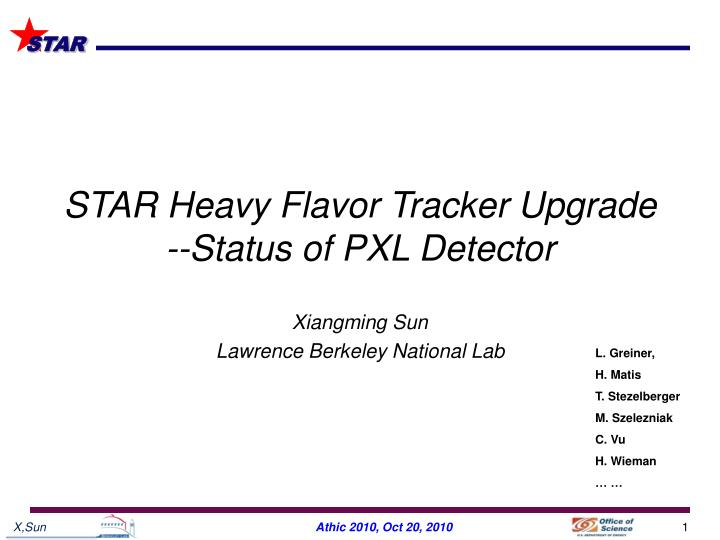 star heavy flavor tracker upgrade status of pxl detector n.