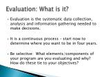 evaluation what is it