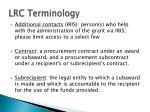 lrc terminology