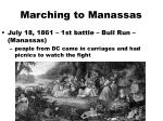 marching to manassas