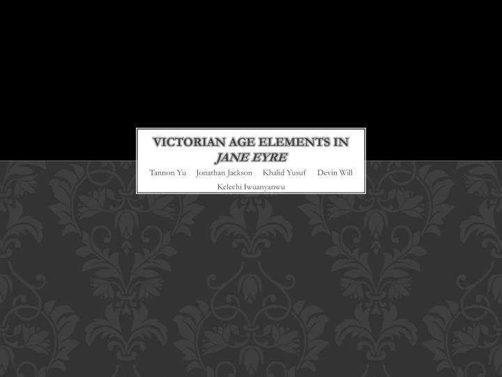 victorian age elements in jane eyre n.