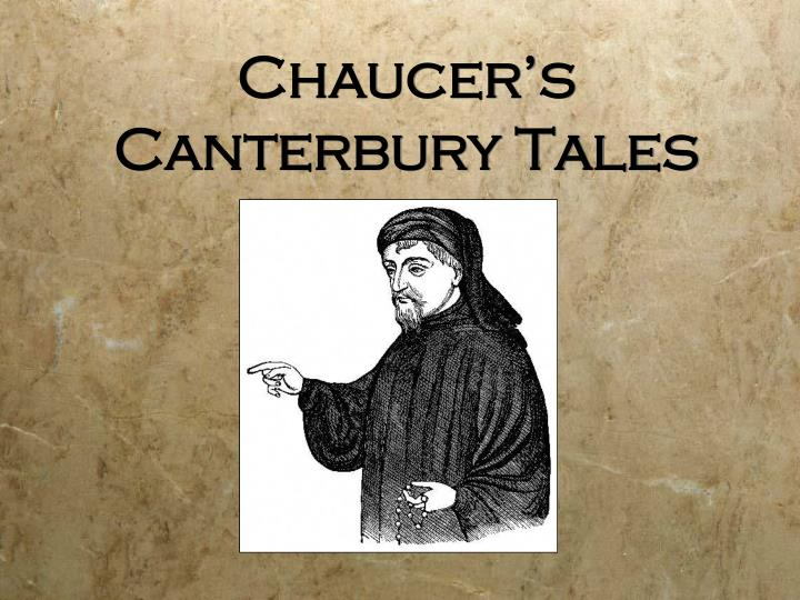 chaucer s canterbury tales n.