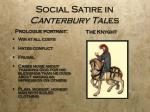 social satire in canterbury tal es