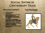 social satire in canterbury tal es1