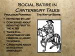 social satire in canterbury tal es2