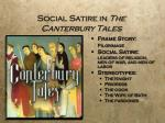 social satire in the canterbury tales