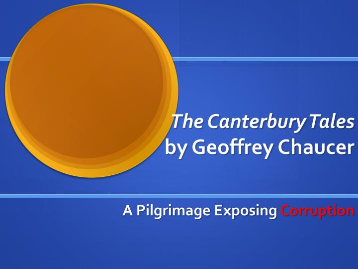 the canterbury tales by geoffrey chaucer n.