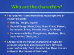 who are the characters