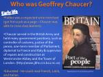 who was geoffrey chaucer