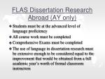 flas dissertation research abroad ay only