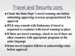 travel and security cont