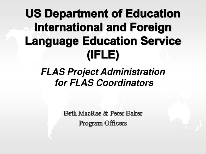 us department of education international and foreign language education service ifle n.