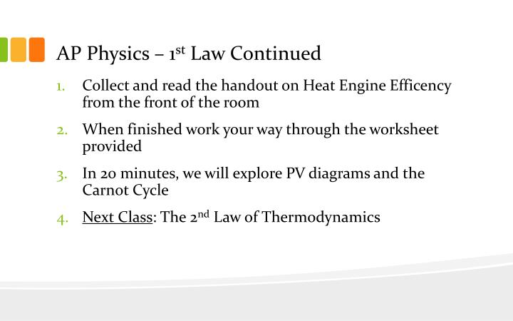 ap physics 1 st law continued n.