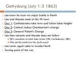 gettysburg july 1 3 1863