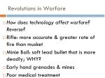revolutions in warfare