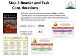 step 3 reader and task considerations2