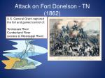 attack on fort donelson tn 1862