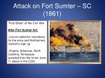 attack on fort sumter sc 1861