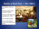 battle of bull run va 1861