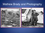 mathew brady and photography