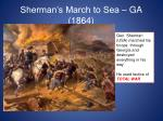 sherman s march to sea ga 1864