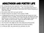 adulthood and poetry life