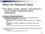 what the research says