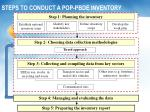 steps to conduct a pop pbde inventory