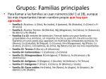 grupos familias principales