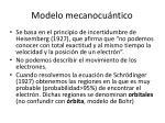 modelo mecanocu ntico