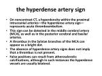 the hyperdense artery sign