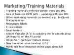 marketing training materials