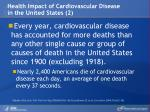 health impact of cardiovascular disease in the united states 2