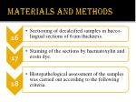 materials and methods10