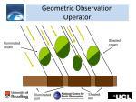 geometric observation operator
