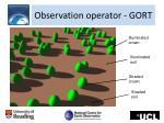 observation operator gort