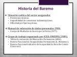 historia del baremo