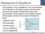 development of equilibrium1