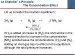 le chatelier s principle the concentration effect1