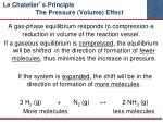 le chatelier s principle the pressure volume effect