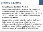 solubility equilibria2